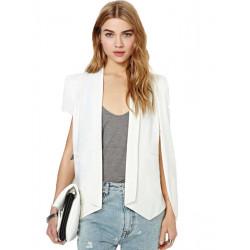 Kvinder Elegant Fashion Langærmet Solid Color Cape Blazer