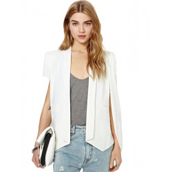 Frauen elegante Mode Langarm Solid Color Cape Blazer