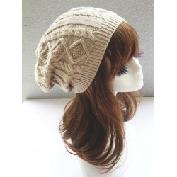 Kvinna Mode Double Helix Yllekeps Knit Hat