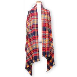Women Fashion Multicolor Grid Plaid Wool Tassel Scarf Shawl