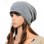 Kvinna Mode Stripe Yllekeps Knit Hat Damkläder