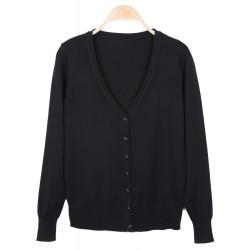 Women Fashion V Neck Long Sleeve Slim Knit Sweater Cardigan