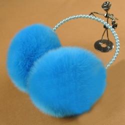 Frauen Mädchen Winter Netter Pelz Perlen Warm Ohrenschützer