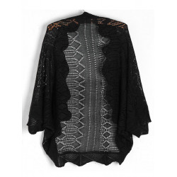 Kvinder Half Batwing Sleeve Hollow Vest Knitted Cardigan