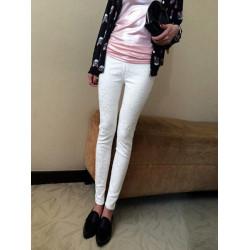 Kvinder High Waist Lange Bukser Lace Stram Blyant Bukser