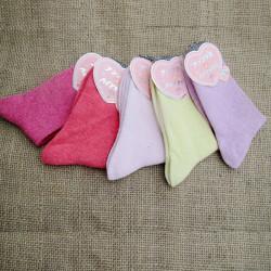 Frauen reine Farbe Socken Herbst Winter dicken Woll warme Socken