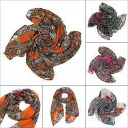 Frauen Schal Dame Chiffon Print Silk Long Neck Schal Pashmina Schal