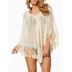 Women Sexy Chiffon V-neck Beach Wear Batwing Bikini Cover Up Blouse