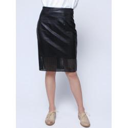 Kvinna Sexy Vintage Hög Midja Shorts PU Kjol