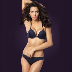Women Sexy Y-line Straps Bra Sets Front Closure Lace Bra Set