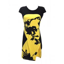 Women Short Sleeve Floral Printed Slim Fitted Dresses