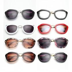 Kvinna Solglasögon Cat Eye Colorful Sun Shades Retro Glasögon
