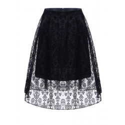 Kvinna Vintage Polyester Blom- Temperament Elastisk Midja Bubble Kjol
