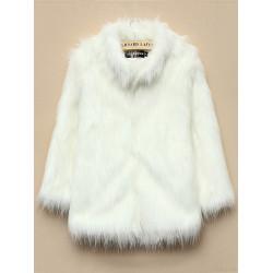 Women Warm Faux Fur Long Sleeve Thicken Jacket Coat