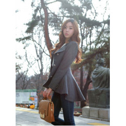 Women Winter Dovetail Wool Coat Designer Irregular Long Slim Blazer