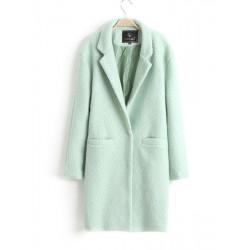 Women Winter Long Sleeve Warm Wool Loose Long Coat