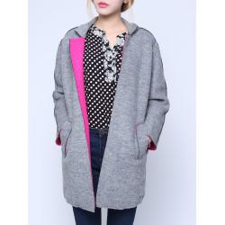 Frauen Wollmischung starke lange Hülsen Mantel