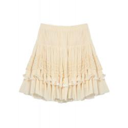 Women Yarn Lace Pure Bitter High Waist Short Chiffon Skirts