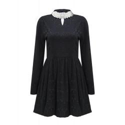 Women's Long sleeve V-neck High Collar Bottoming Dress