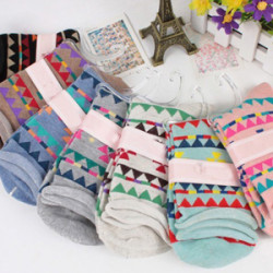 Kvinna Triangle Färgglada Cotton Socks