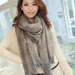 Damen Winter Plaid Quaste Persönlichkeit großen Schal Schal