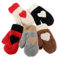 Zanzea Weihnachten schönes Voll Finger Plüsch Art Schnee Handschuhe Handschuhe