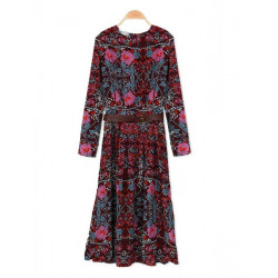 Zanzea elegante Böhmen Blumen Druck Kleid
