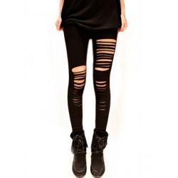 Zanzea Fashion Hot Sexy Slim Punk Style Hollow Out Black Leggings