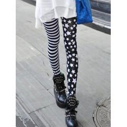 Zanzea Mode Punk Street Stlye US Flagga Star Stripe Print Leggings