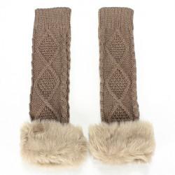 Zanzea Faux Fur Fingerless Gloves
