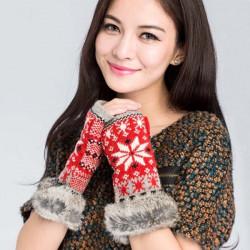 Zanzea® Rabbit Päls Wool Knitted Gloves