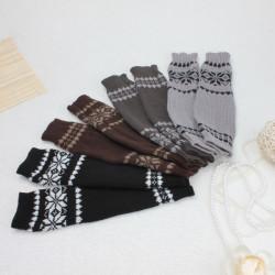 Zanzea Snowflake Handleds Långa Stickade Finger Handskar