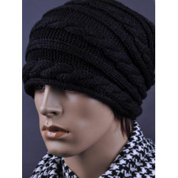 Zanzea®Threaded Twist Pattern Knitted Wool Hat