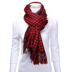 Zanzea Unisex Thick Houndstooth Woolen Scarf
