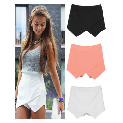 Zanzea Frauen klassische reine Farbe Chiffon Hot Shorts