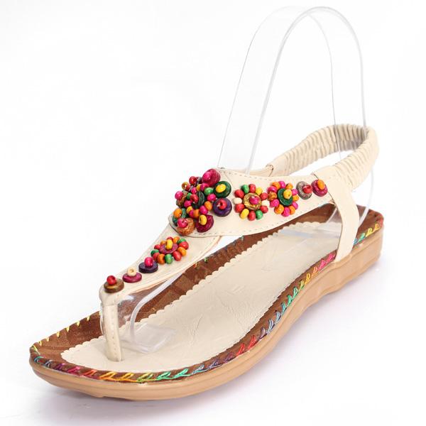 Agate Diamond Beads Sandaler Damesko