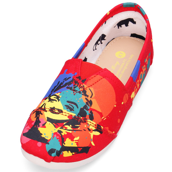 Kunstdruck Leinwand Freizeitschuhe Damen Schuhe