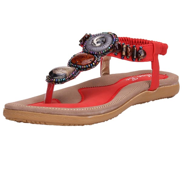 Bohemia Rome Style Beaded Smykker Sandaler Damesko