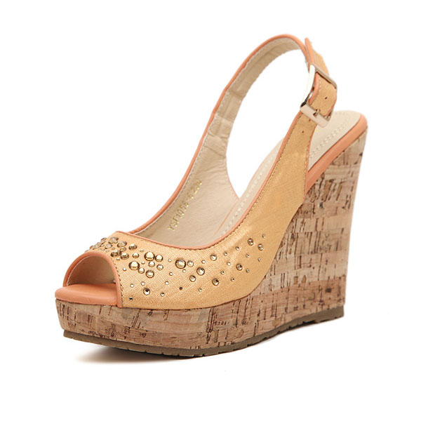 Bohemian Fish Mouth Højhælede Wedge Sandals Damesko