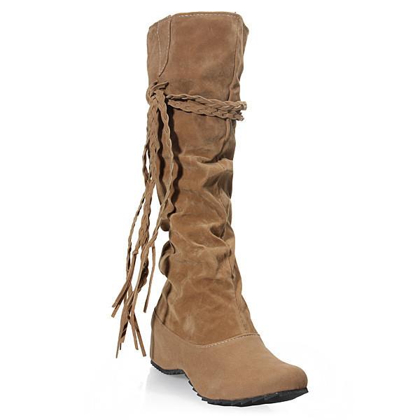 Boho Tassels Flat Women Snow Boots Women's Shoes