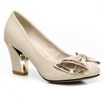 Bowknot runde Zehe starke Ferse Schuhe Damen Schuhe