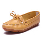 Bowknot Slip on Leder Slipper Damen Schuhe
