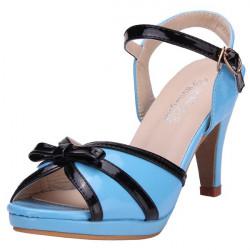 Bowtie Buckle High Heel Sandals