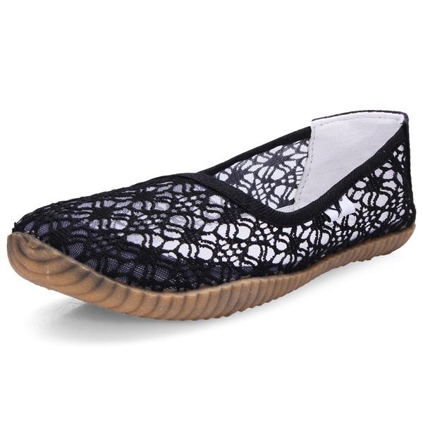 Canvas aushöhlen Oxford Loafers Flache Schuhe Damen Schuhe