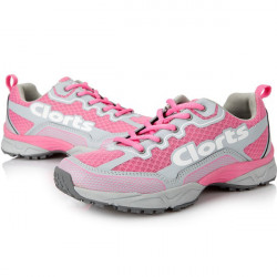 Clorts Women PU Ventilated Running Spidproof Sport Shoes