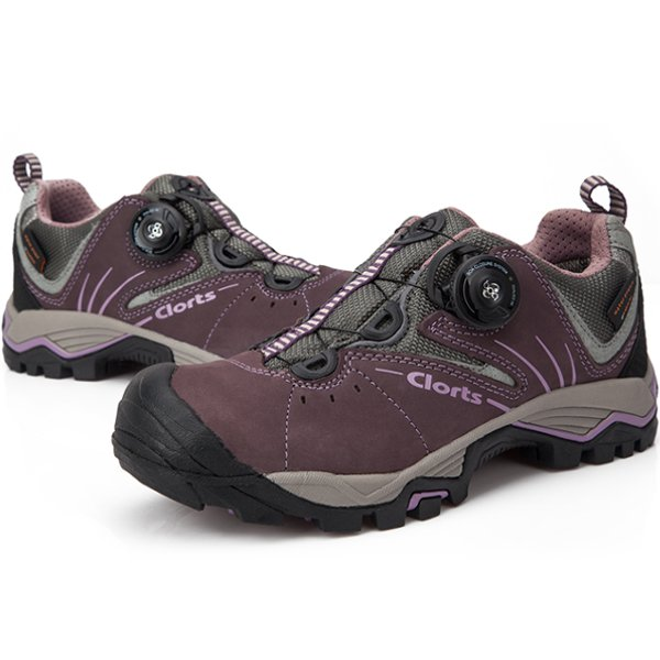 Clorts Women Waterproof Walking Hiking Leather Button Shoes Women's Shoes