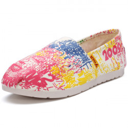 Color Matching Loafers Canvas Flat Shoes