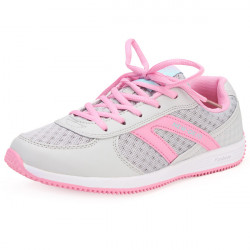 DELOCRD Women Lace Up Sport Tennis Running Mesh Shoes