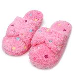 Dot Women Winter Bowknot Slipper Ladies Cotton Indoor Slippers Women's Shoes