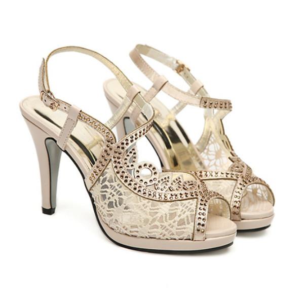 Fish Mouth Lace Thin Heels Women Sandals Women's Shoes